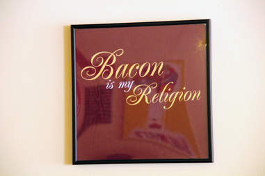 Bacon is my religion tee shirt baconery new york city