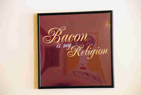 Bacon is my religion tee shirt baconery new york city