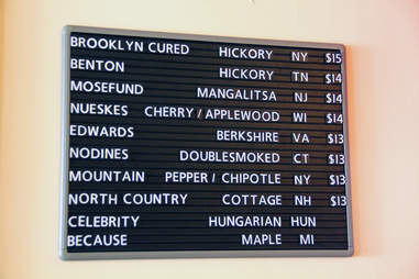The bacon menu at the baconery new york city
