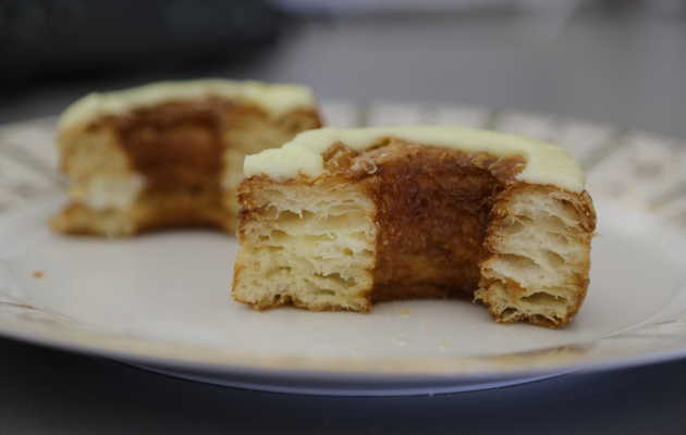 Dominique Ansel's latest cronut creation? Lemon-maple. Now line up.
