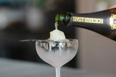 Absinthe sorbet at Maven