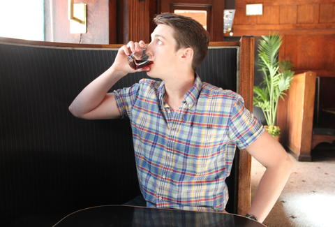 Thrillist SF editor Joe Starkey drinking Fernet Branca