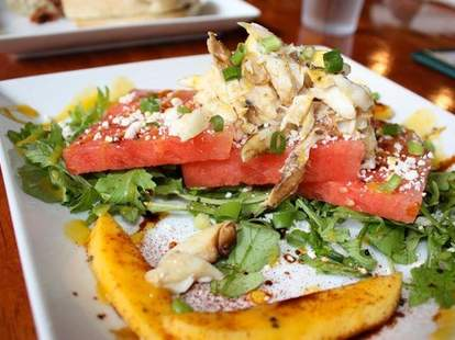 The Green Goddess New Orleans French Quarter restaurant crab salad