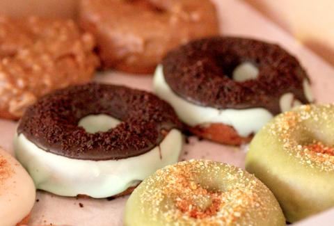Mint Chocolate Cookie Donuts