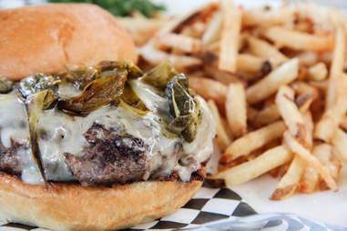 Amarillo burger at Work, Deep Ellum