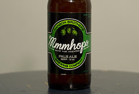 Mmmhops brew by the Hanson Brothers and Mustang Brewing Company