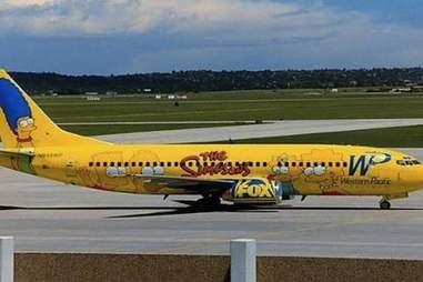 Simpsons plane