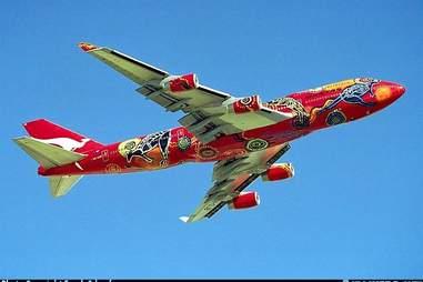 Qantas kangaroo plane