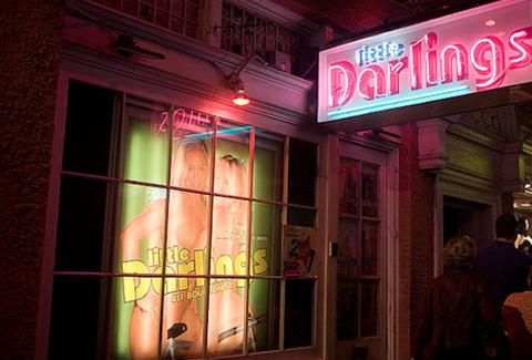 Little Darlings sign and storefront