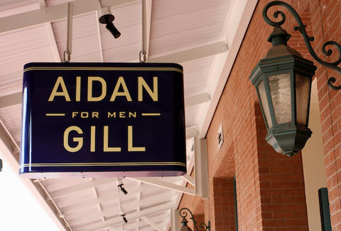 Aidan Gill for Men sign