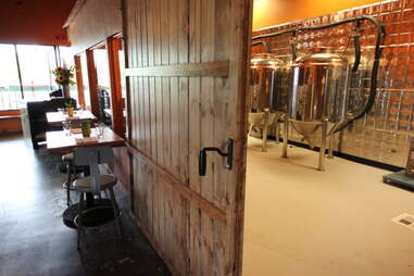 fermenters and tables at BRU in Boulder