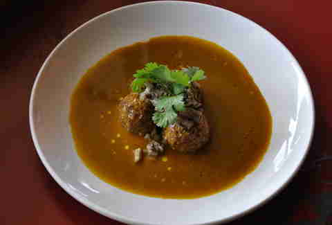 pork albondigas at BRU in Boulder