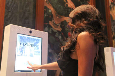 A webcam station at Haven nightclub at the Golden Nugget in Atlantic City