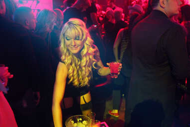 A hostess mixes drinks at Haven nightclub at the Golden Nugget in Atlantic City