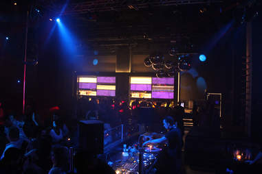 The view from the DJ booth at Haven nightclub at the Golden Nugget in Atlantic City