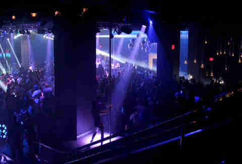 The view of Haven nightclub at the Golden Nugget in Atlantic City from the club's escalators.
