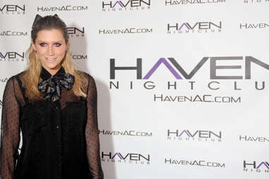 Ke$ha posing on the step and repeat outside Haven nightclub at the Golden Nugget in Atlantic City