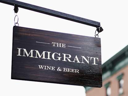 The Immigrant NY sign
