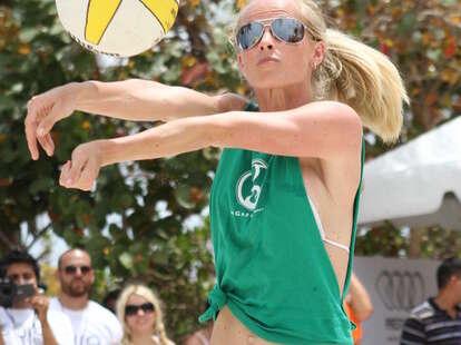 Miami Beach Volleyball Player
