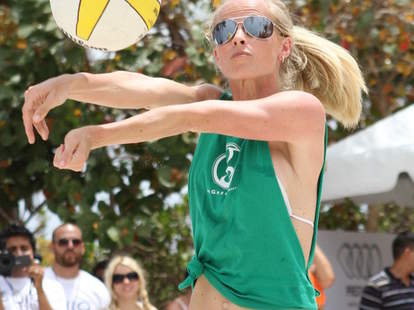 Miami Beach Volleyball Player
