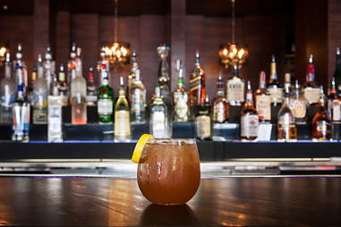 The Makers Old Fashioned at Viva Bar and Kitchen in the Gaslamp Quarter of San Diego.