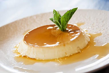 Flan at Viva Bar and Kitchen in the Gaslamp Quarter of San Diego.