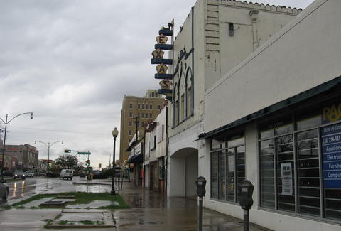 The exterior at the Texas Theatre