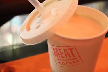 jaegermeister milkshake at meatmarket