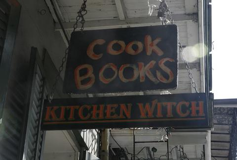 Kitchen Witch Cookbooks sign