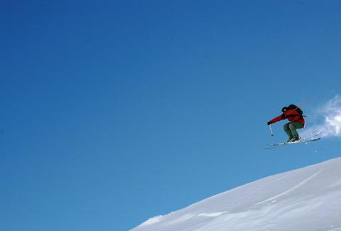 Big mountain skiing in Chile