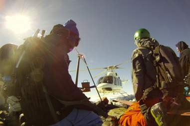 Heli skiing with Evolve Chile