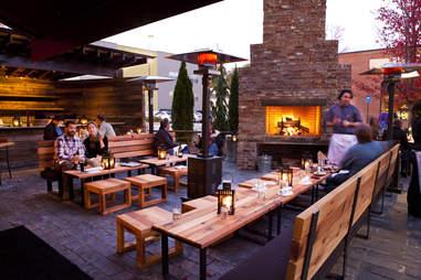 patio seating at Barcelona Wine Bar -- Atlanta