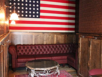 A couch at Redford