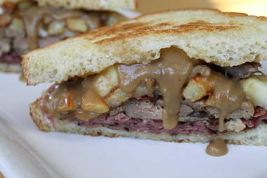 the anti-paleo sandwich with duck confit and pastrami