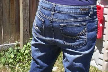 Saggy butt jeans