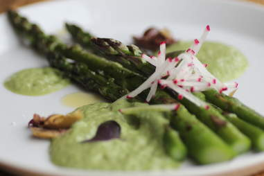 Grilled asparagus at Terzo in Southwest Minneapolis