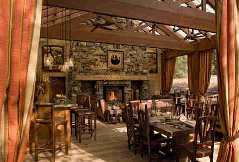 Dining Pavilion at The Resort at Paws Up's Campside Creek
