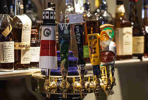 Beer taps at Carrie Nation Cocktail Club