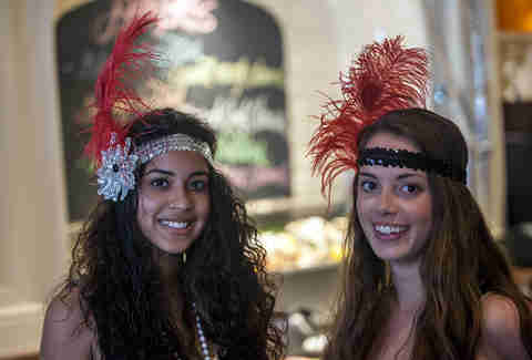 Flapper girls at Carrie Nation Cocktail Club