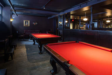Pool tables at Carrie Nation Cocktail Club
