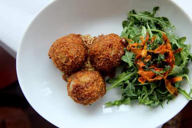 Bitterballen fried pork meatballs at Noord