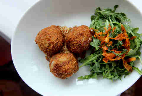 Bitterballen fried pork meatballs at Noord