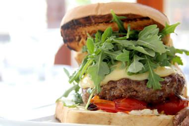 The grilled lamb cheeseburger at Noord
