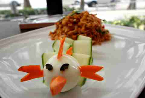 Pad Thai and angry bird at Nikko by Sunshine
