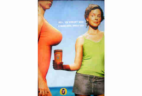 Fosters Boobs Ad.