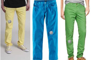 Colored khakis