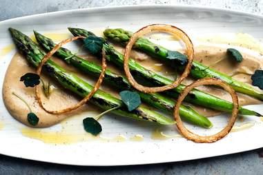 grain store seared asparagus