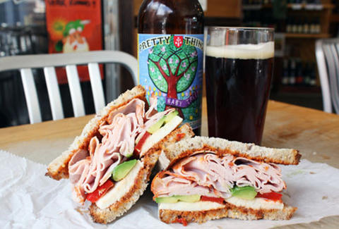 OMG Turkey Sandwich & Pretty Things Baby Tree Beer at The Foodery