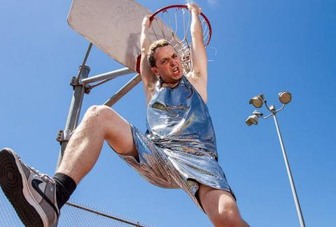 Betabrand disco suit slam dunk