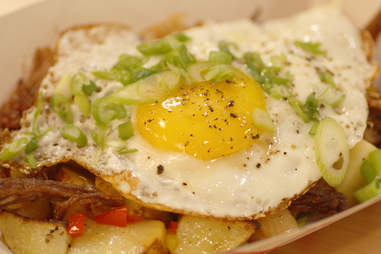 The fried egg and lamb shoulder hash at Border Springs Farm in Reading Terminal Market